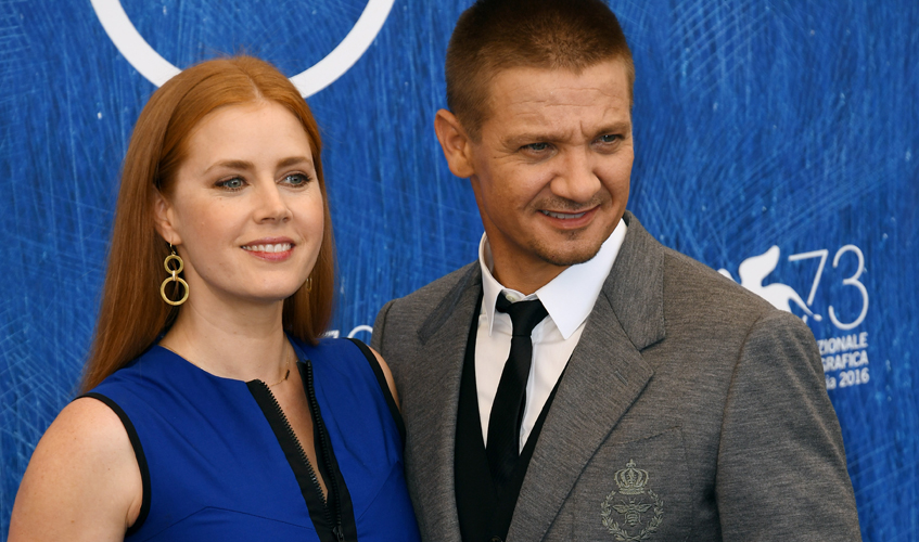Adams with Arrival co-star Jeremy Renner at the 73rd Venice Film Festival  Images courtesy of Jaeger-LeCoultre
