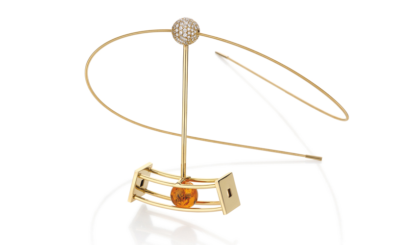 Pendulum amber pendant, YAEL SONIA