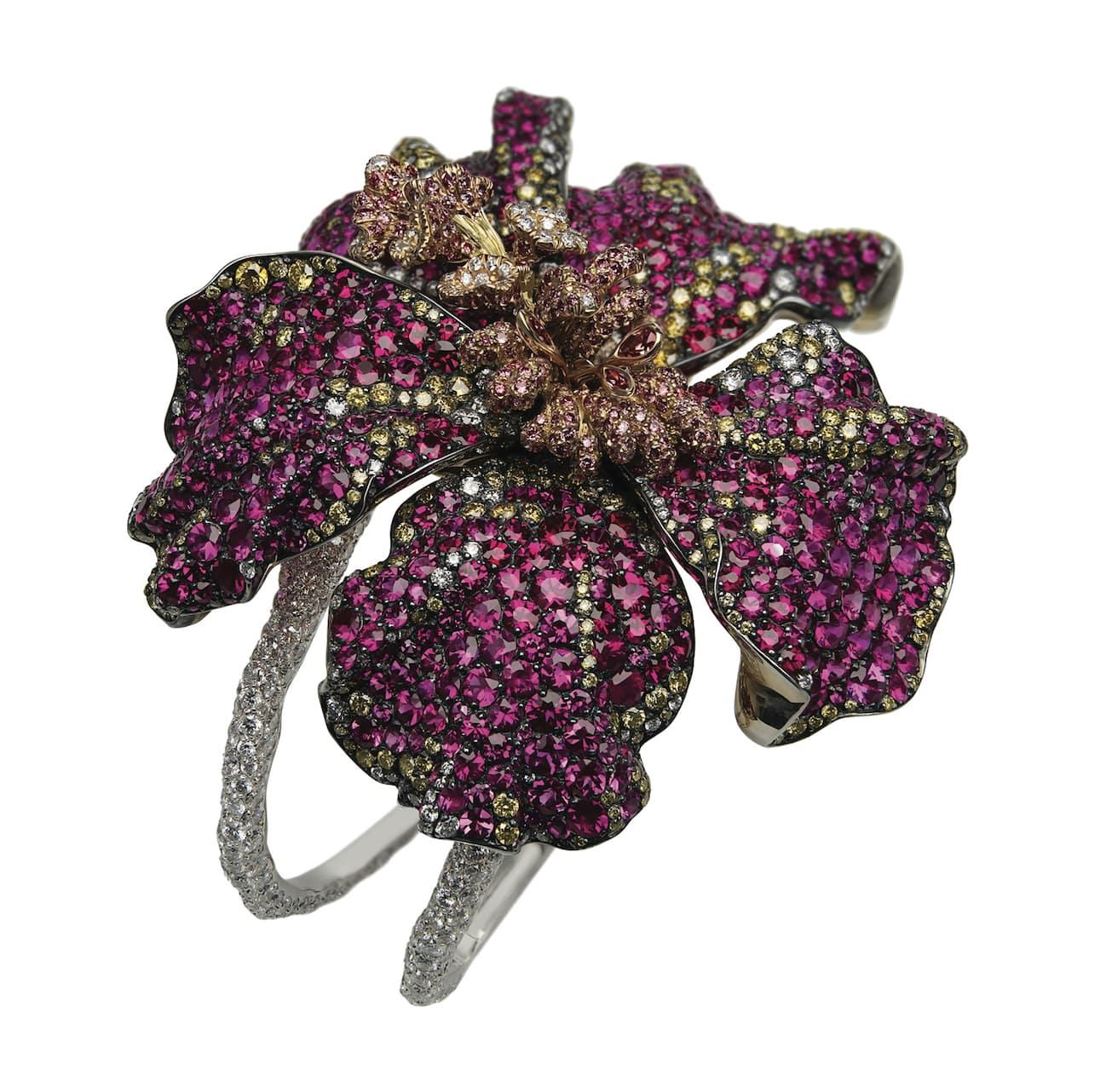 Flower-Fabergé-Red-Hibiscus-Cuff