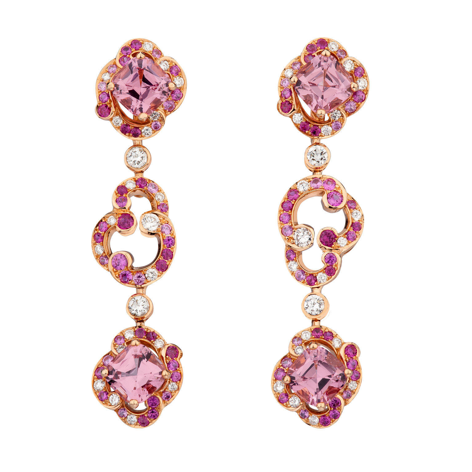SPINEL-Fabergé-Rococo-Pink-Spinel-Long-Earrings