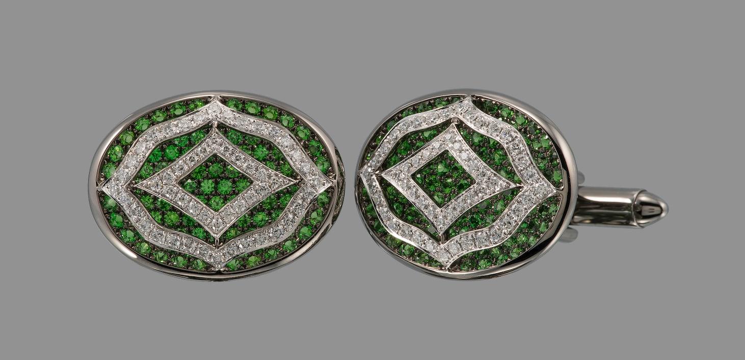 Dehres-emerald-cufflinks