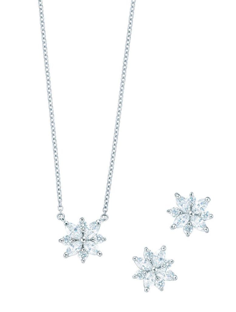 Tiffany-Co.-Victoria-cluster-pendant-and-earrings-with-diamonds-in-platinum