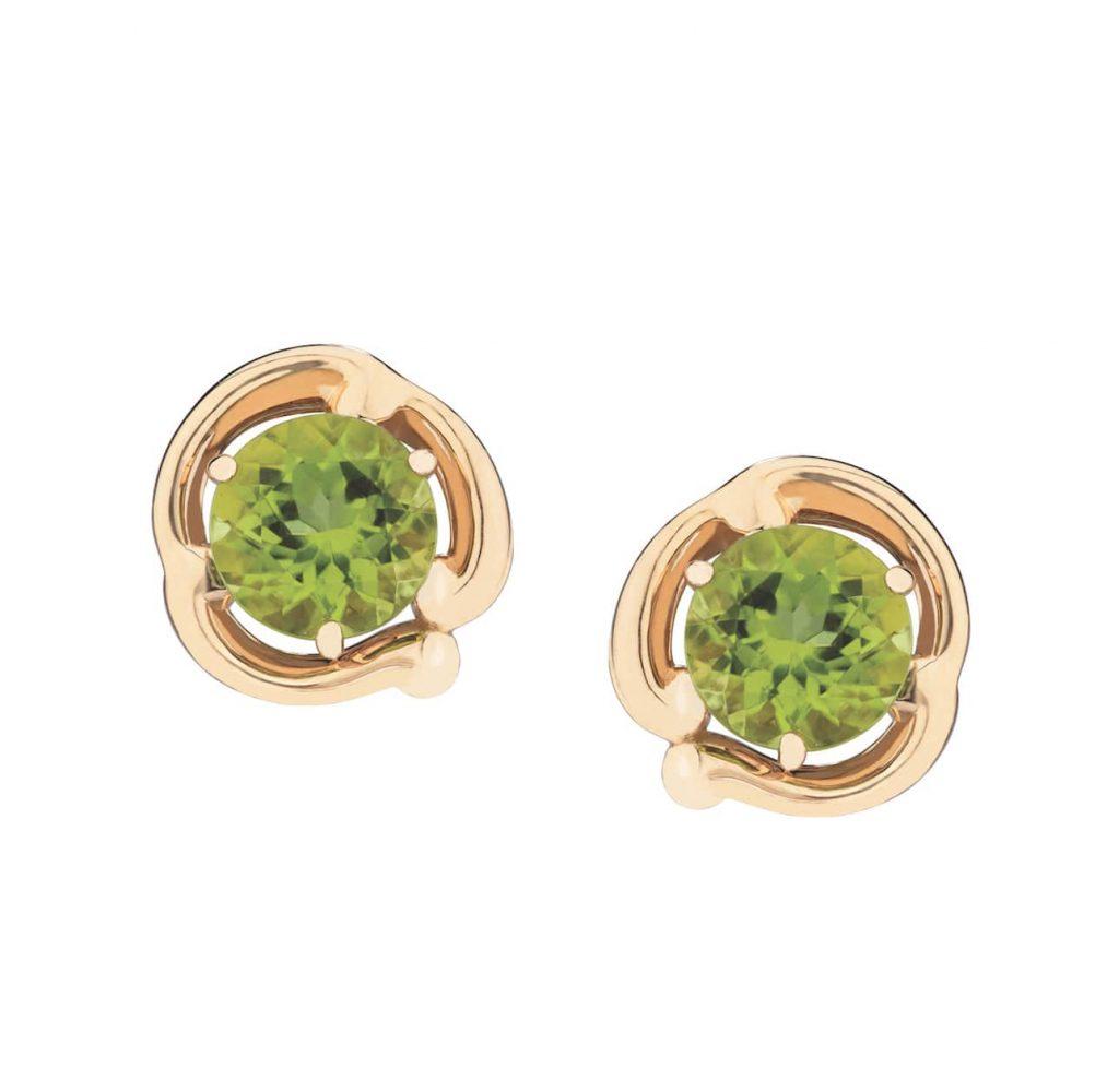 Faberge-Rococo-Peridot-Yellow-Gold-Earring