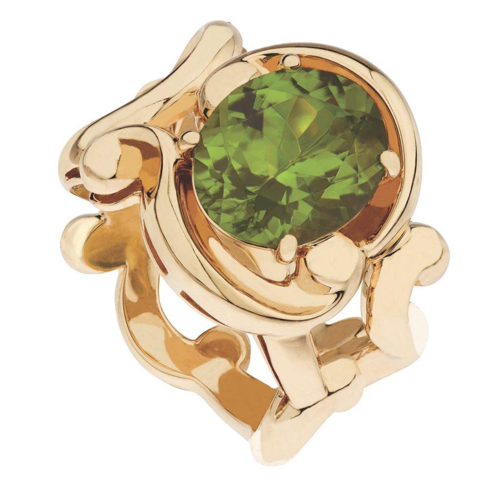 Faberge-Rococo-Peridot-Yellow-Gold-Ring