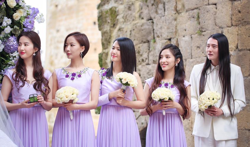 Jane Zhang's bridesmaids