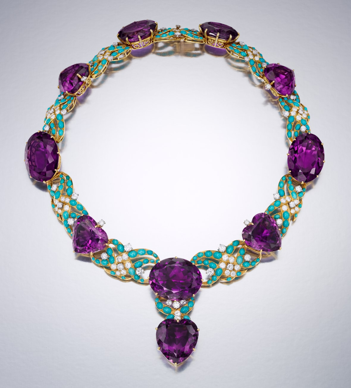 Cartier-turquoise-and-amethyst-necklace