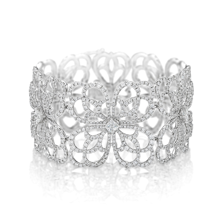 Continental-Diamond-Floral-Lace-Diamond-Bangle