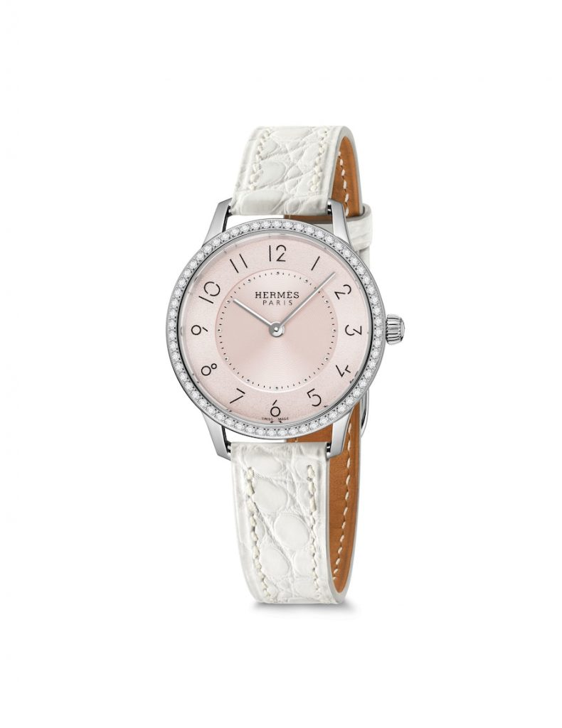 Hermes-_25mm_magnolia_dial-white-luxury-watch