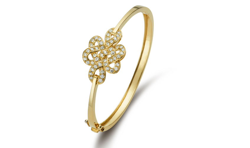 Eternity Knot bangle from Wedding collection, POH HENG