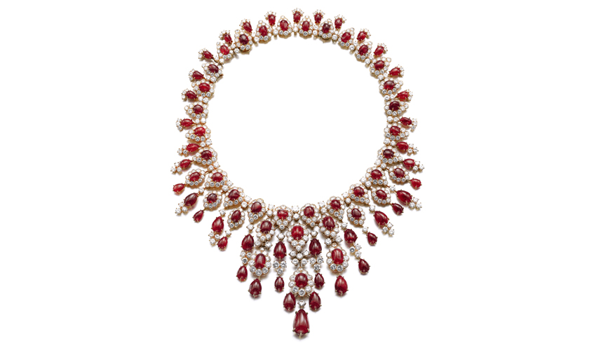 A 1971 ruby and diamond necklace, VAN CLEEF & ARPELS by Sotheby's