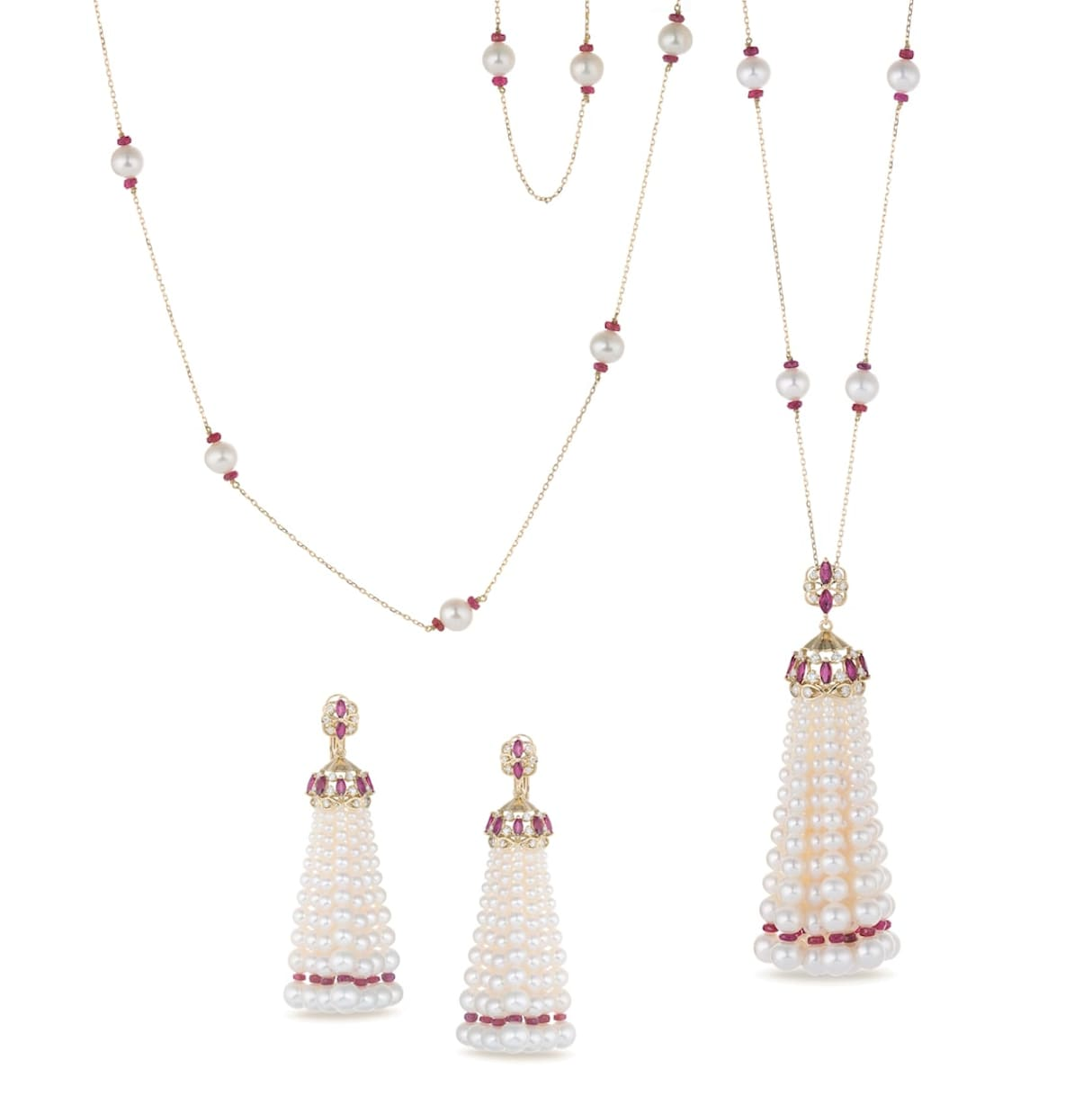 Tassel-necklace-and-earrings-from-Cara-Jewellers-set-with-pearls-diamonds-and-rubies1