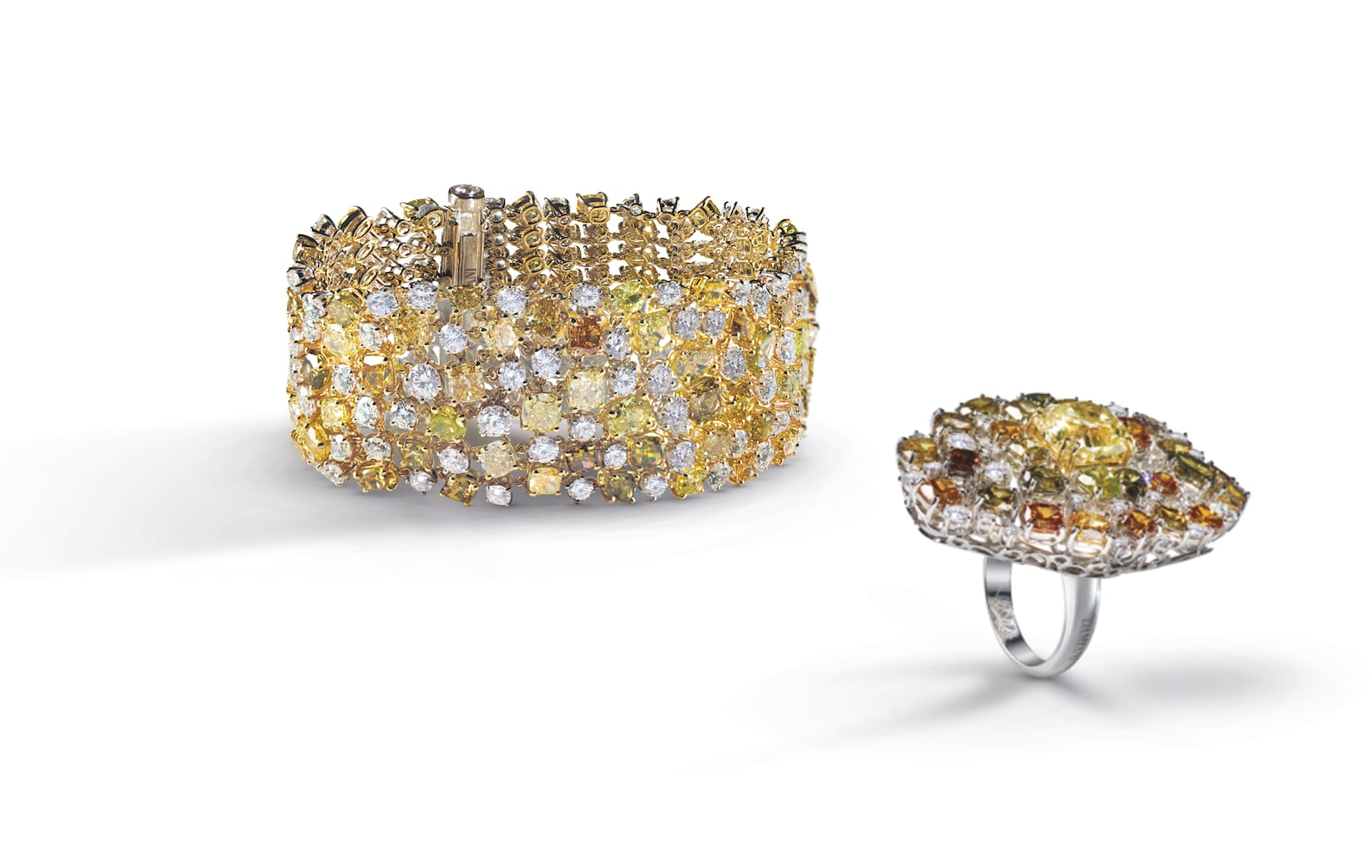 Yellow-DIamonds-DAMIANI-Pebbles_composizione_groupage